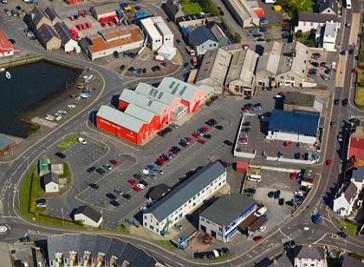 Toll Clock Shopping Centre Lerwick in Shetland Islands